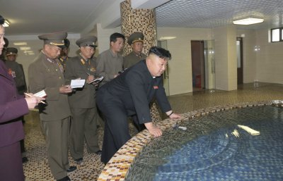 Kim Jong Un at the Pyongyang Textile Mill