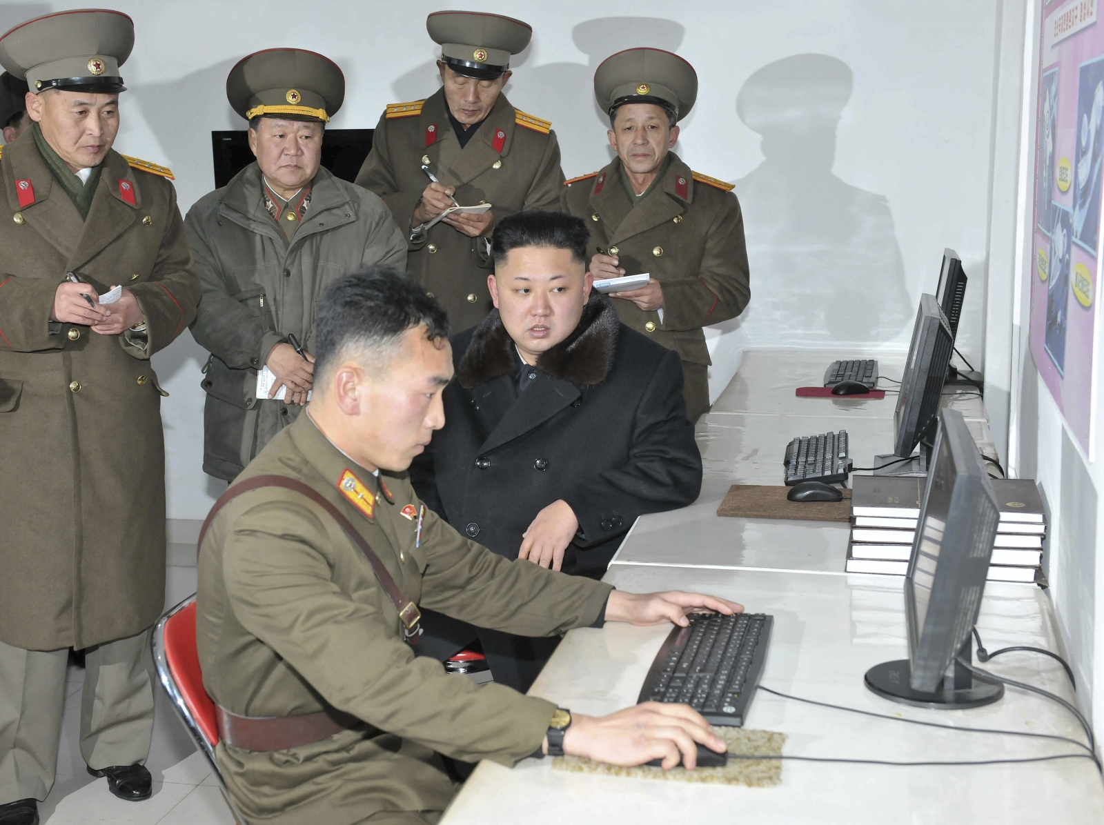Kim Jong Un at the Designing Institute of the Korean People's Army