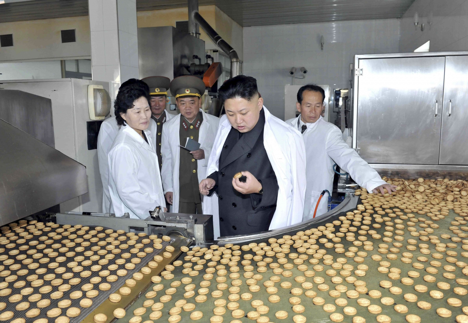 Kim Jong Un at the Foodstuff Factory No 354