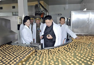 Kim Jong Un at the Foodstuff Factory No 354