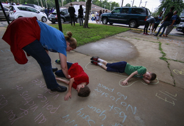 Protest over Michael Brown shooting in Ferguson