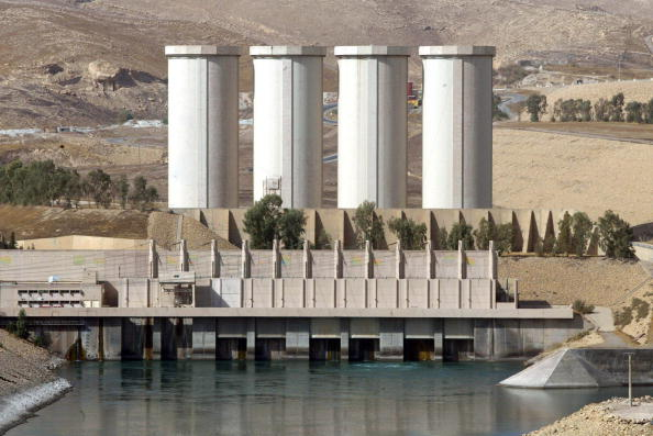 A general view shows the Mosul dam