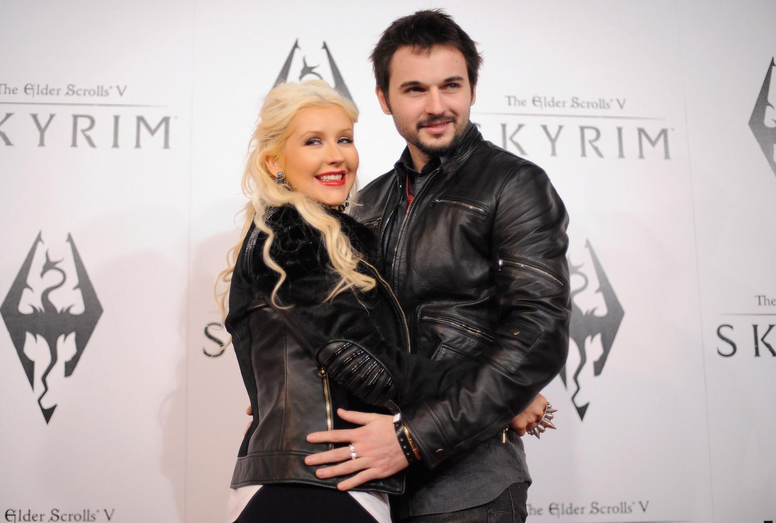 Christina Aguilera and Mark Rutler