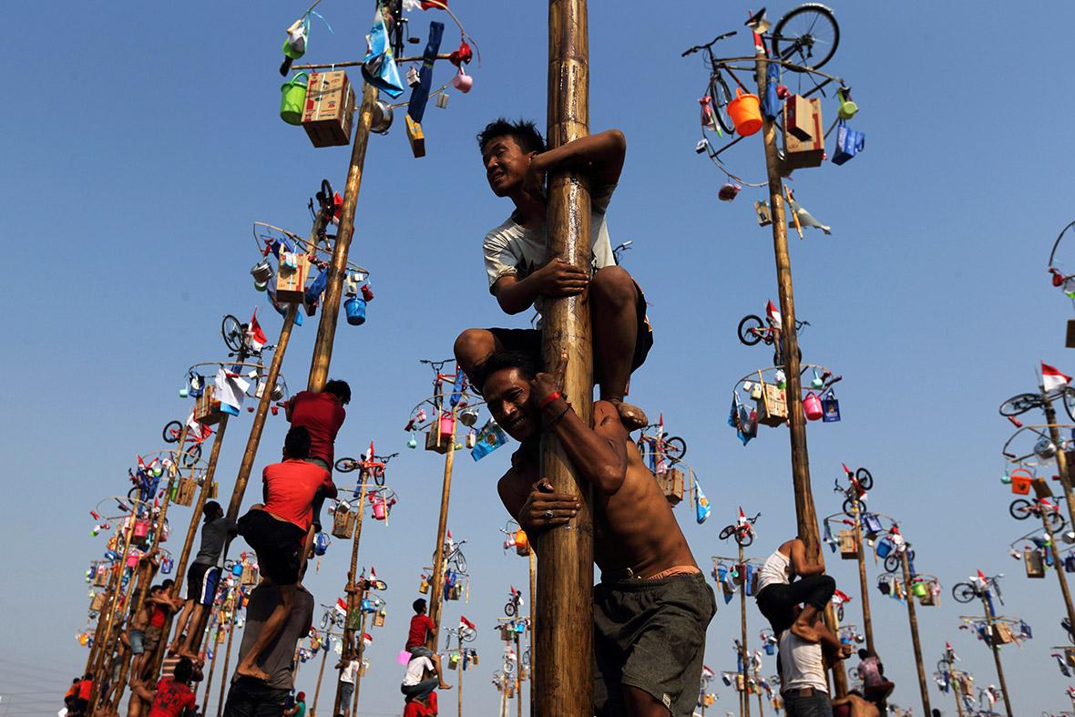 pole climbing