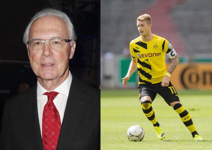 Franz Beckenbauer and Marco Reus