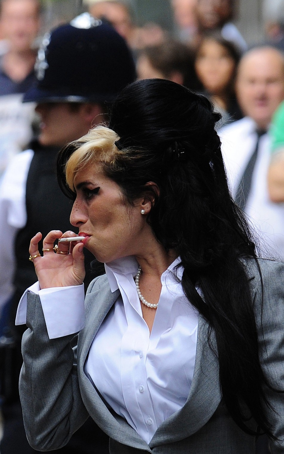 British singer Winehouse arrives at Westminster Magistrates Court in central London
