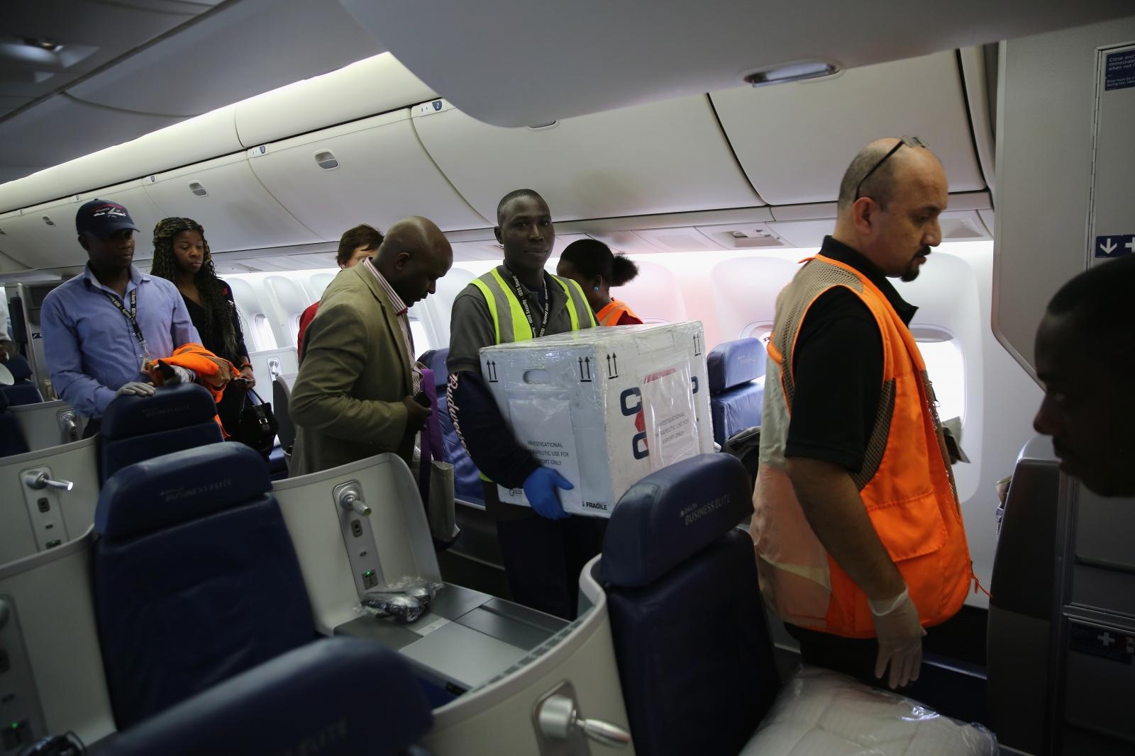 Ebola transported Zmapp