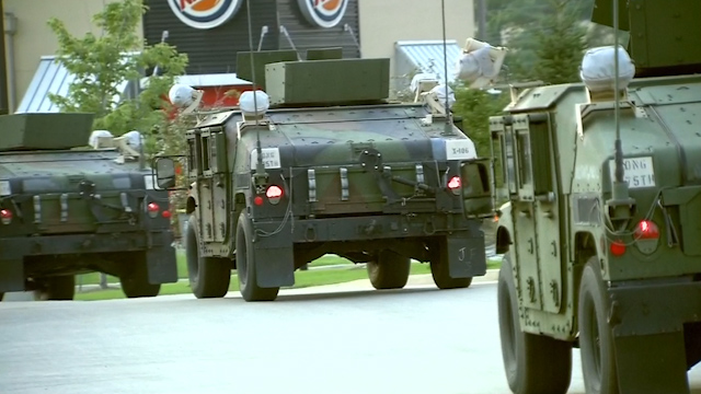 Ferguson Shooting: National Guard Troops Arrive