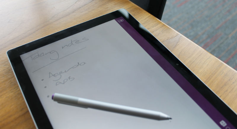 Microsoft Surface Pro 3 Review OneNote