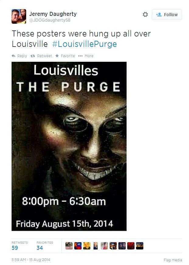 "Twitter Hoax Inspired by Hollywood Film Sparks FBI Probe into Louisville ""Purge"""