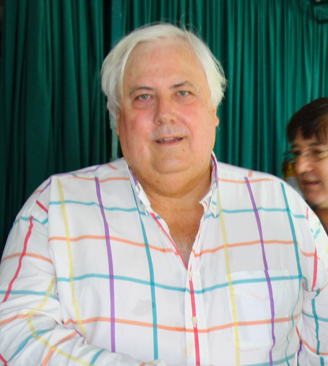 Billionaire mining tycoon Clive Palmer