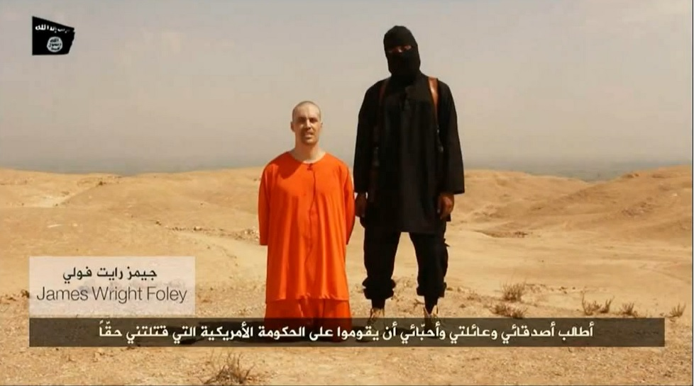 The video which depicts US journalist James Foley's execution.