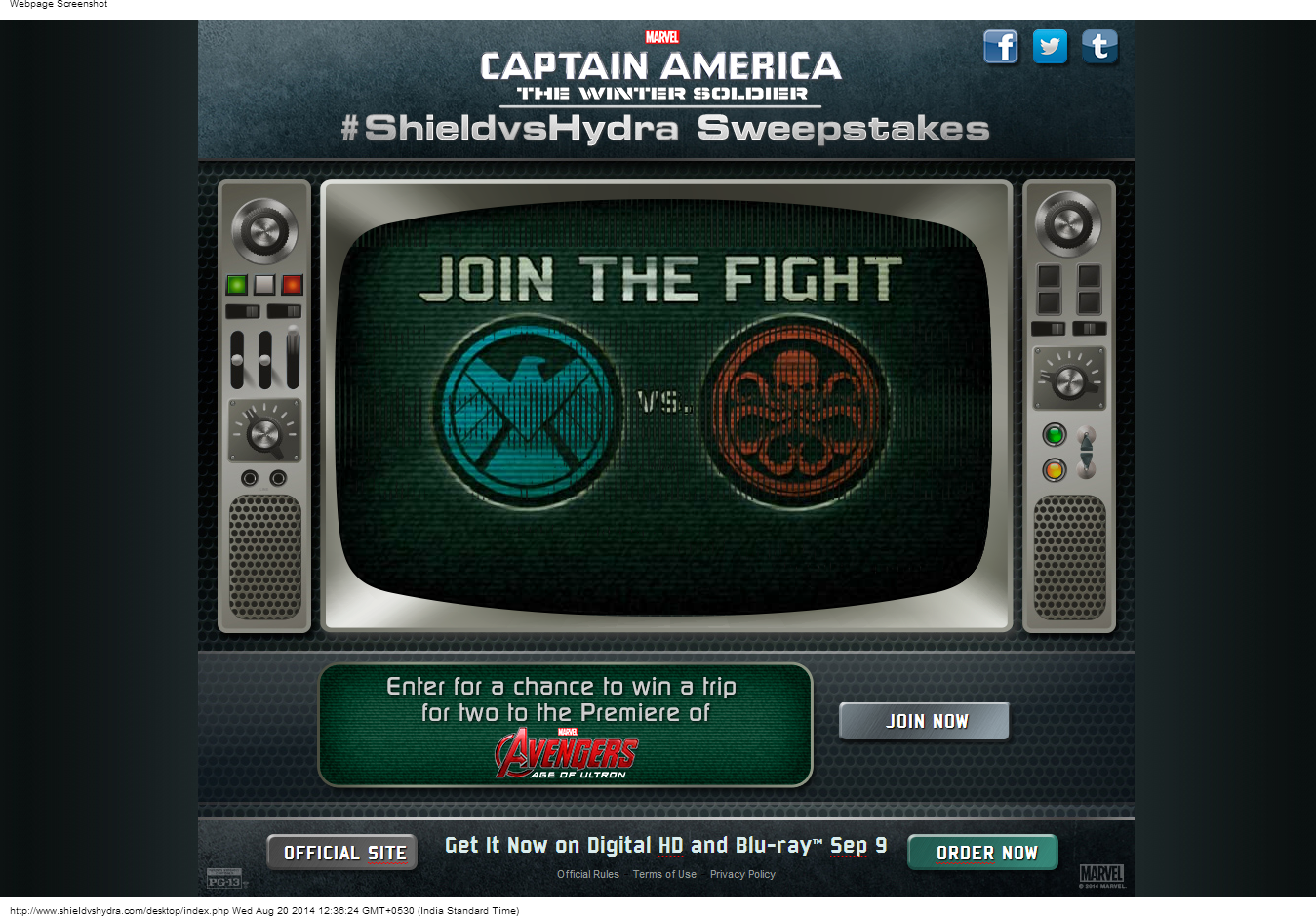 Winter Soldier'/'Avengers 2 Viral Site