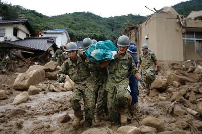 landslide Hiroshima Japan