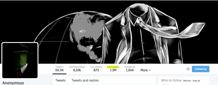 Anonymous @YourAnonNews Twitter Suspended