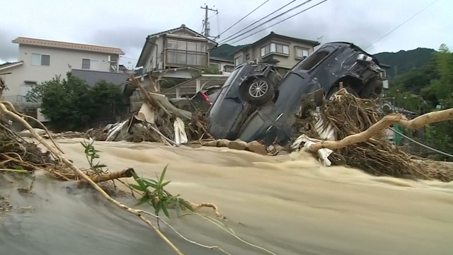 Landslides Hit Japan's Hiroshima, Killing at least 36