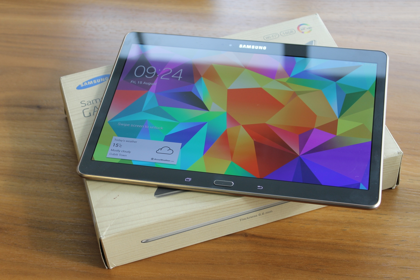 Samsung Galaxy Tab S screen
