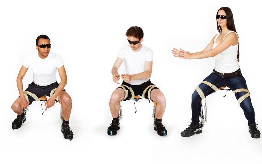 A new exoskeleton suit that transforms into a chair anytime, anywhere