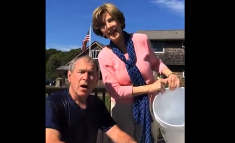 Ice bucket challenge george bush