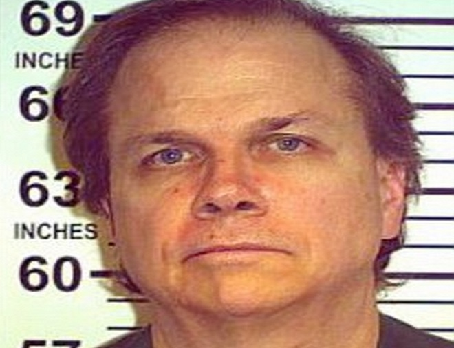 Mark Chapman's parole was denied after prison authorities ruled that he would violate the law again.