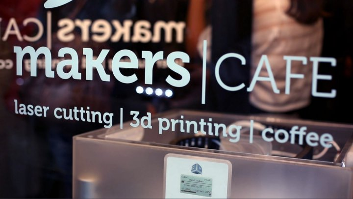 MakersCafe, the first 3D-printing café in the UK has opened in London