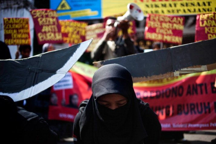 Protest Held In Indonesia Following Maid Beheading In Saudi Arabia
