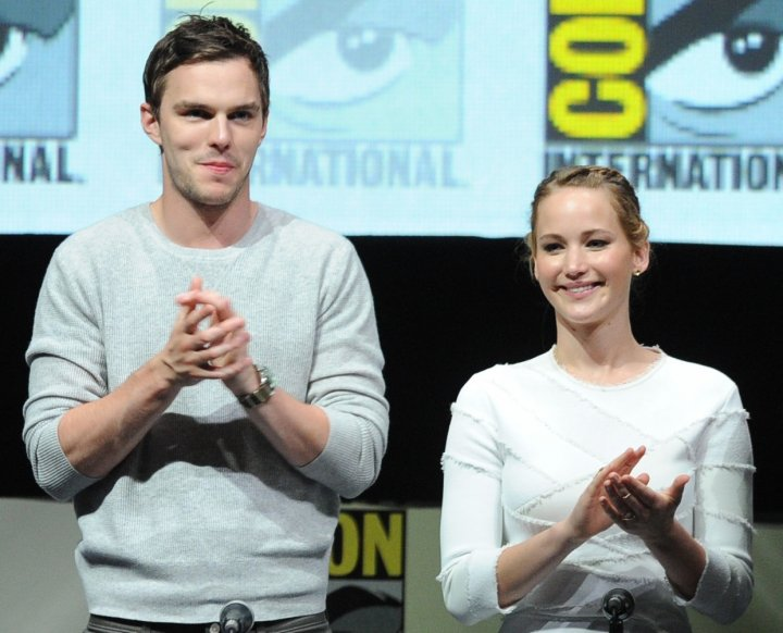 Nicholas Hoult and Jennifer Lawrence at ComicCon