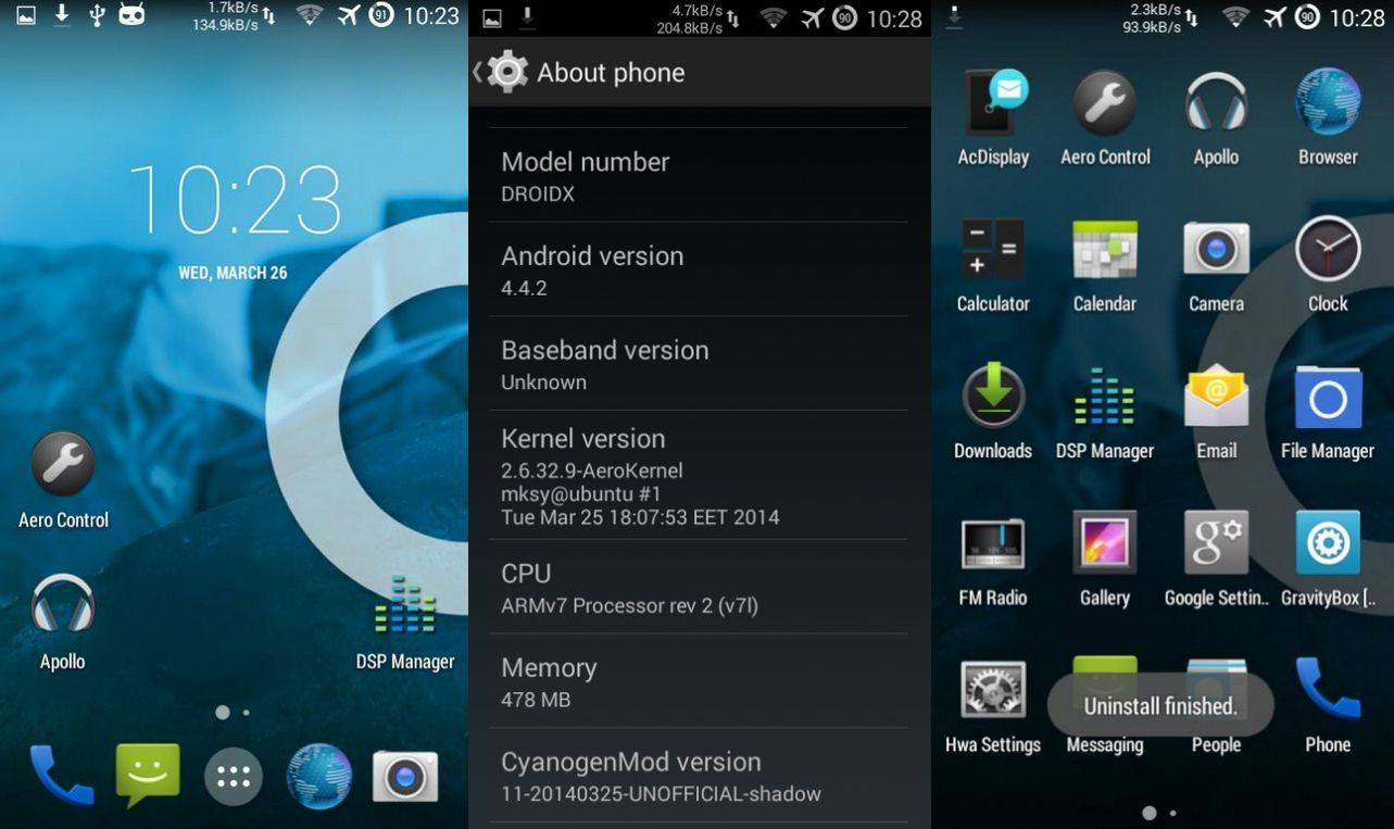 CyanogenMod 11 Stable Build Featuring Android 4.4.4 Released for Motorola Droid X