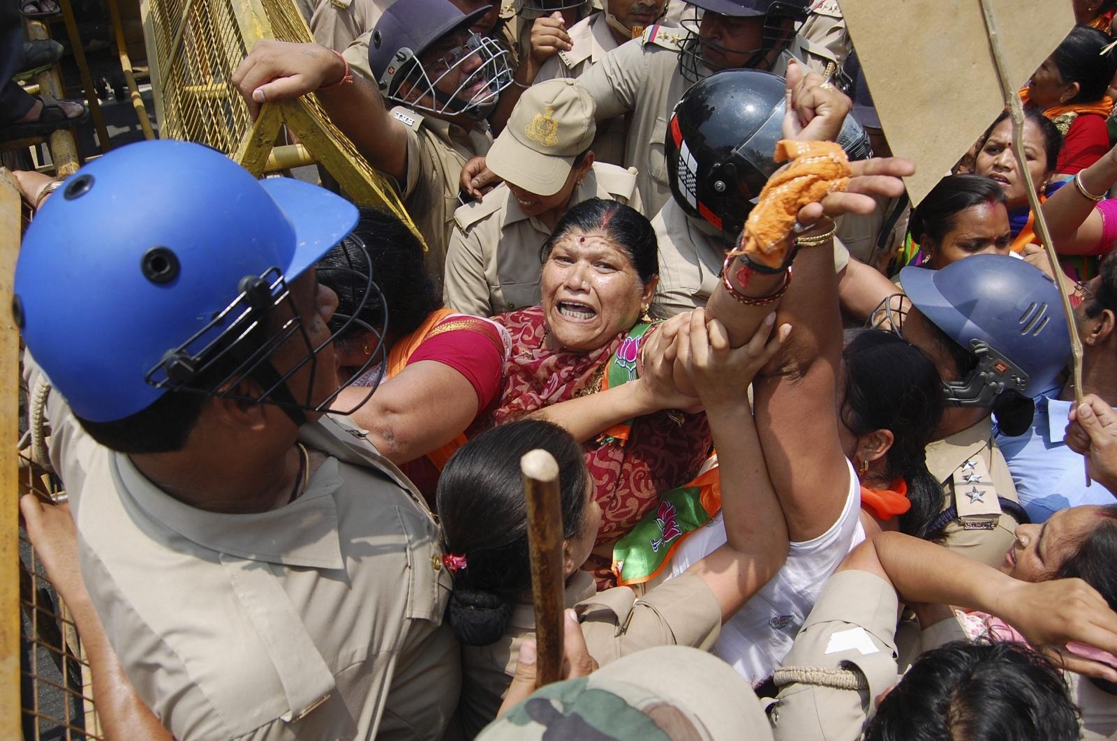 Uttar Pradesh rape protestors