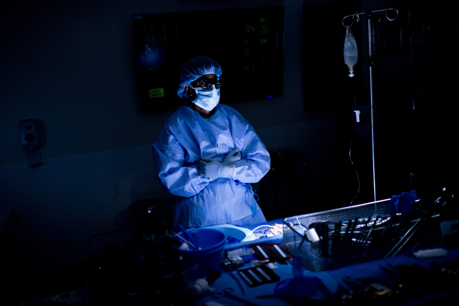 A surgeon prepares to extract donated organs in Johns Hopkins Hospital in Baltimore (AFP/Getty)