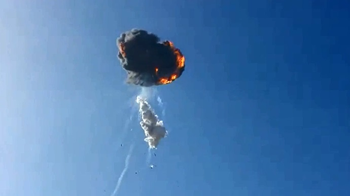 An unmanned SpaceX rocket auto-destructed shortly after take-off following an anomaly within its system.