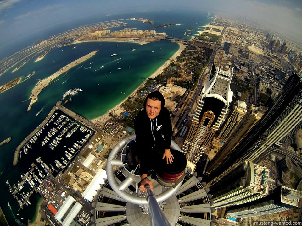 Picture taken from the summit of Dubai's Princess Tower (Facebook)