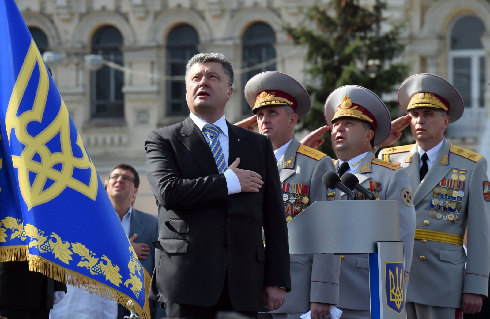 Ukraine Independence Day Parade President Poroshenko