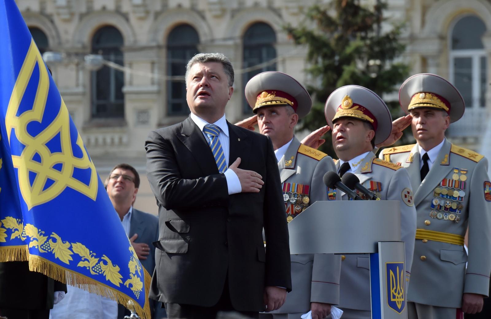 Ukraine Independence Day Parade President Poroshenko