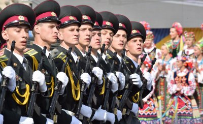 Ukraine Independence Day Parade row soldiers