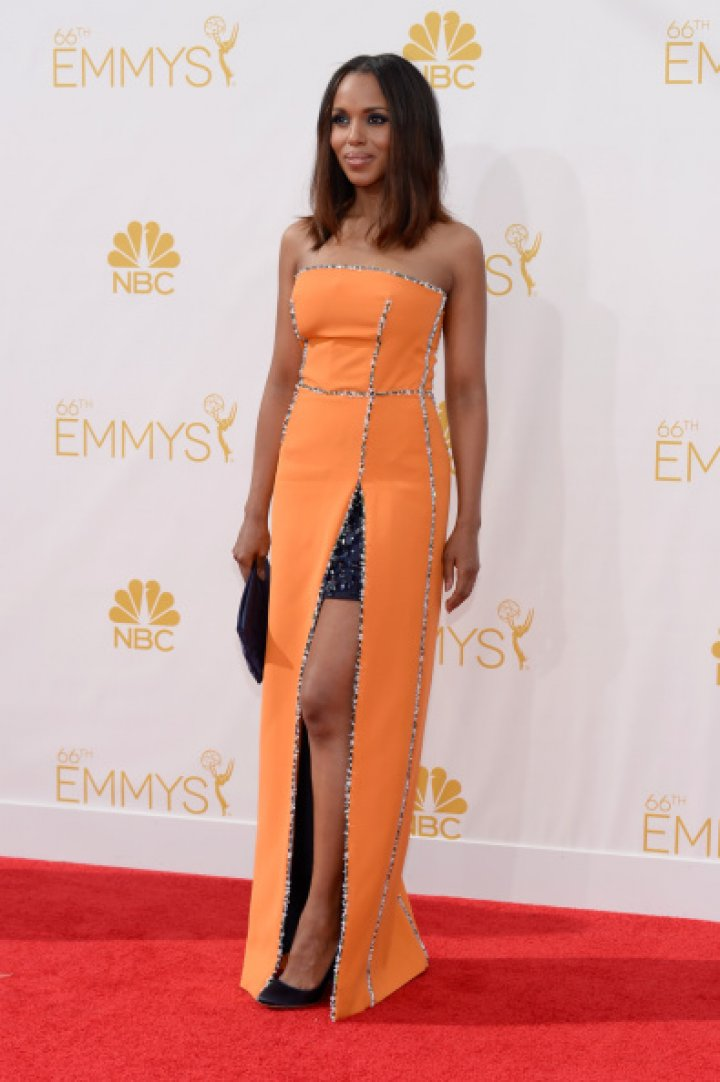 Actress Kerry Washington arrives to the 66th Annual Primetime Emmy Awards held at the Nokia Theater on August 25, 2014.
