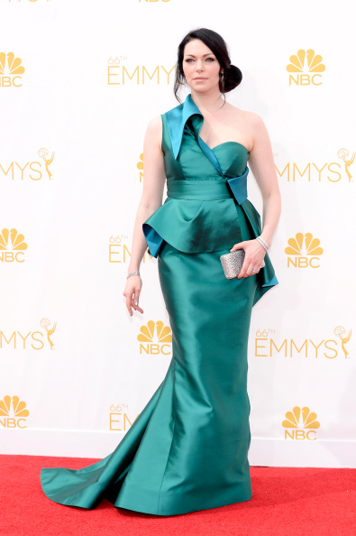 Actress Laura Prepon arrives to the 66th Annual Primetime Emmy Awards held at the Nokia Theater on August 25, 2014.