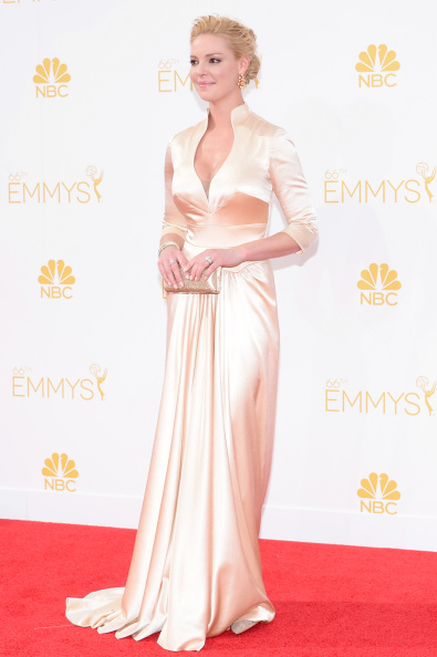 Actress Katherine Heigl arrives to the 66th Annual Primetime Emmy Awards held at the Nokia Theater on August 25, 2014.