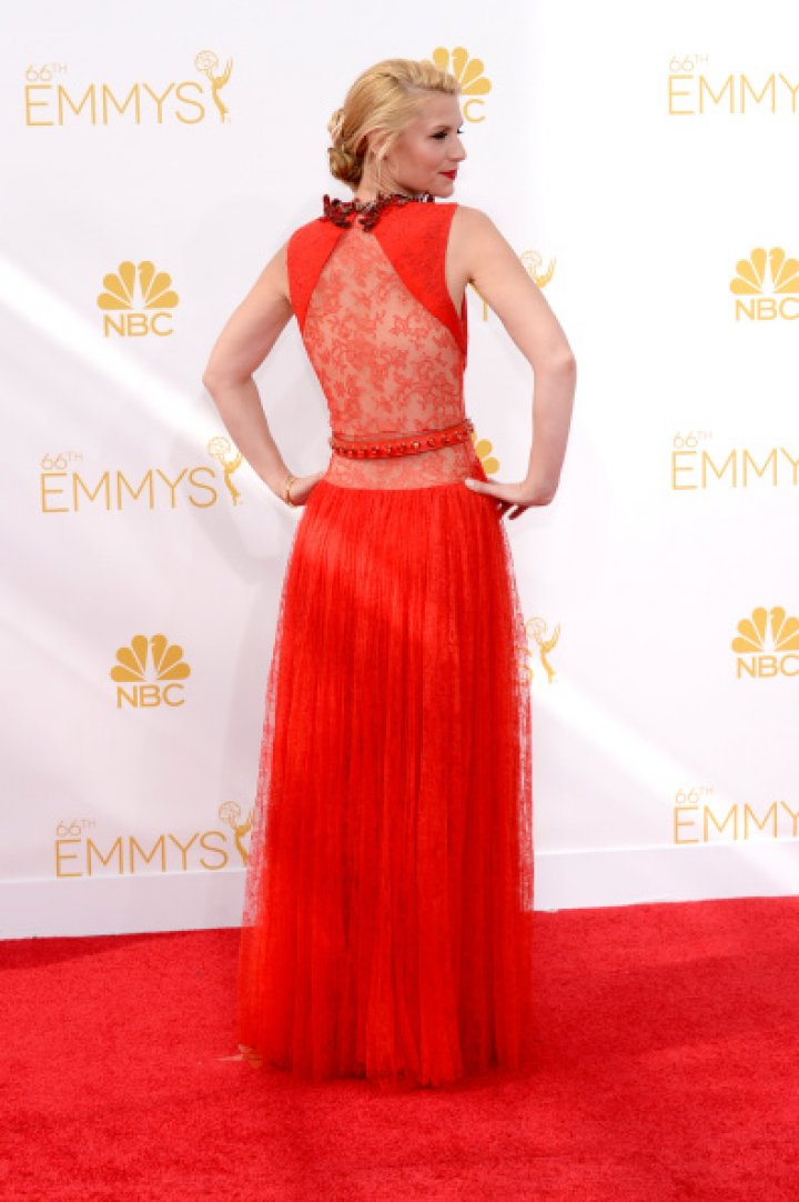 Actress Claire Danes arrives to the 66th Annual Primetime Emmy Awards held at the Nokia Theater on August 25, 2014.