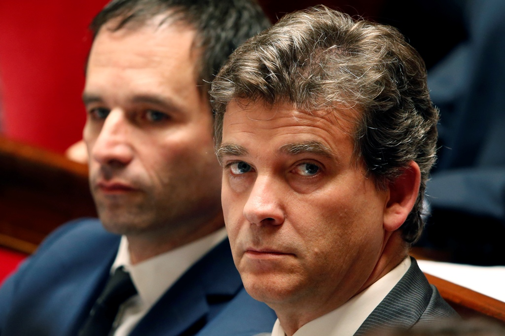 Benoit Hamon and Arnaud Montebourg