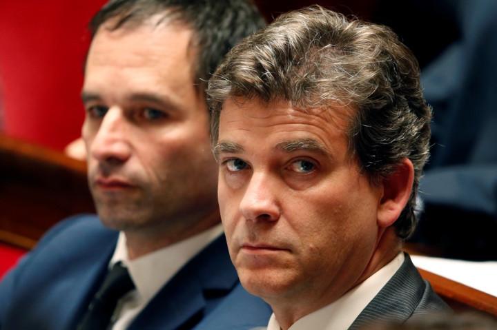 Benoit Hamon and Arnaud Montebourg