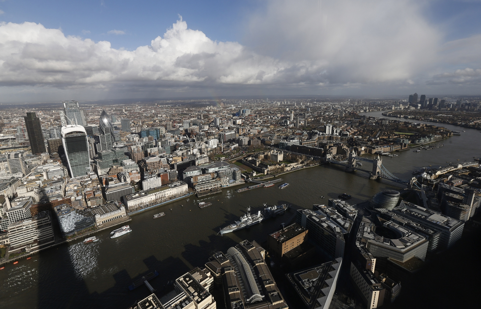 The CBI said financial firms were experiencing a bounce in profits and hiring was up