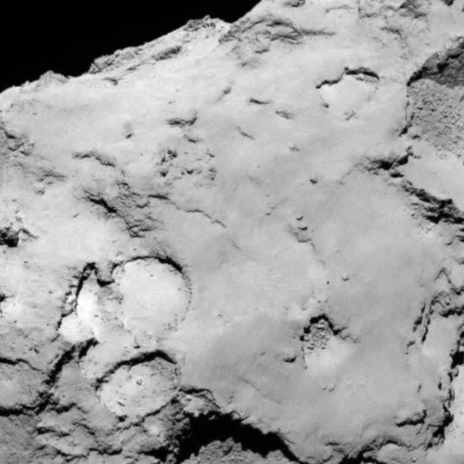 comet landing sites