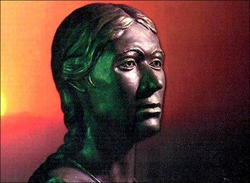 A sculptor's depiction of how Princess Ukok looked in life