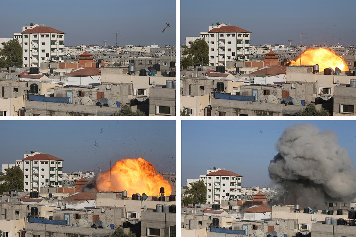 gaza bomb fireball