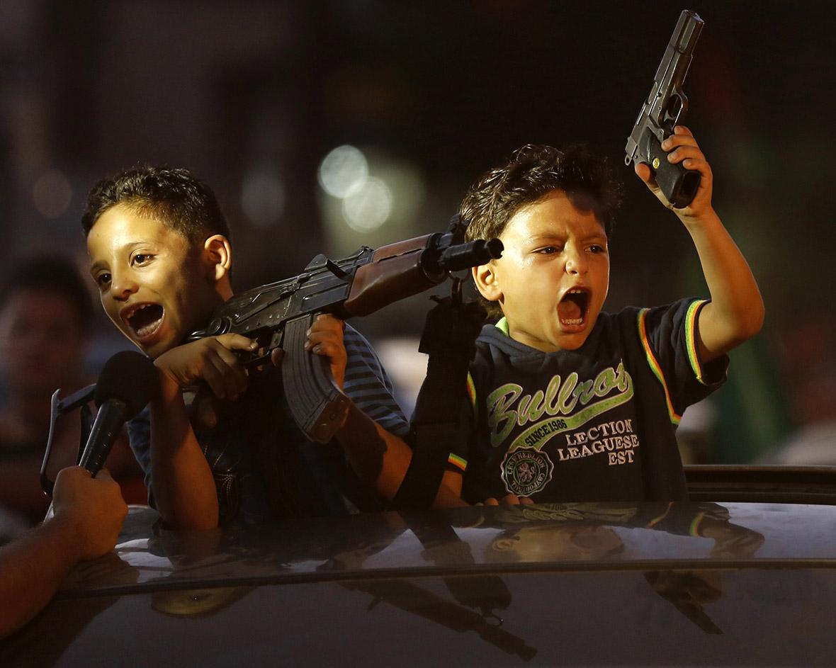 gaza kids with guns
