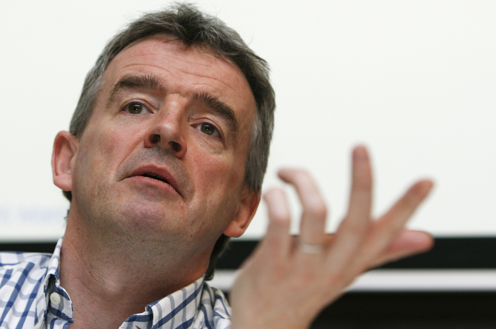 Michael O'Leary Ryanair CEO in Brussels