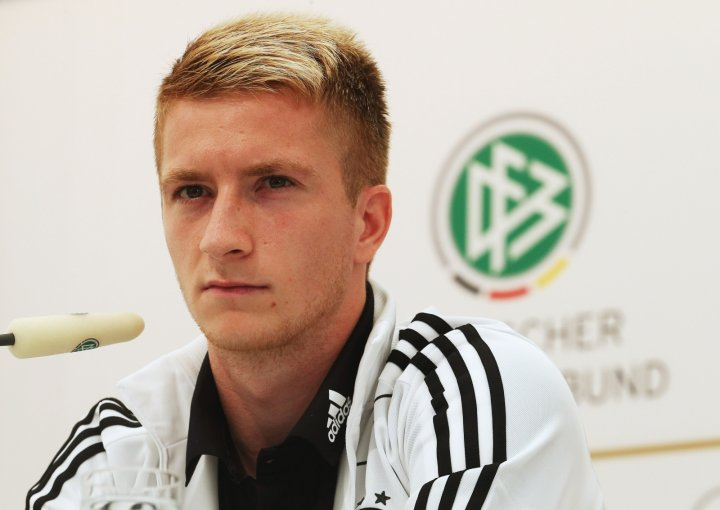 Marco Reus of Germany at a press conference