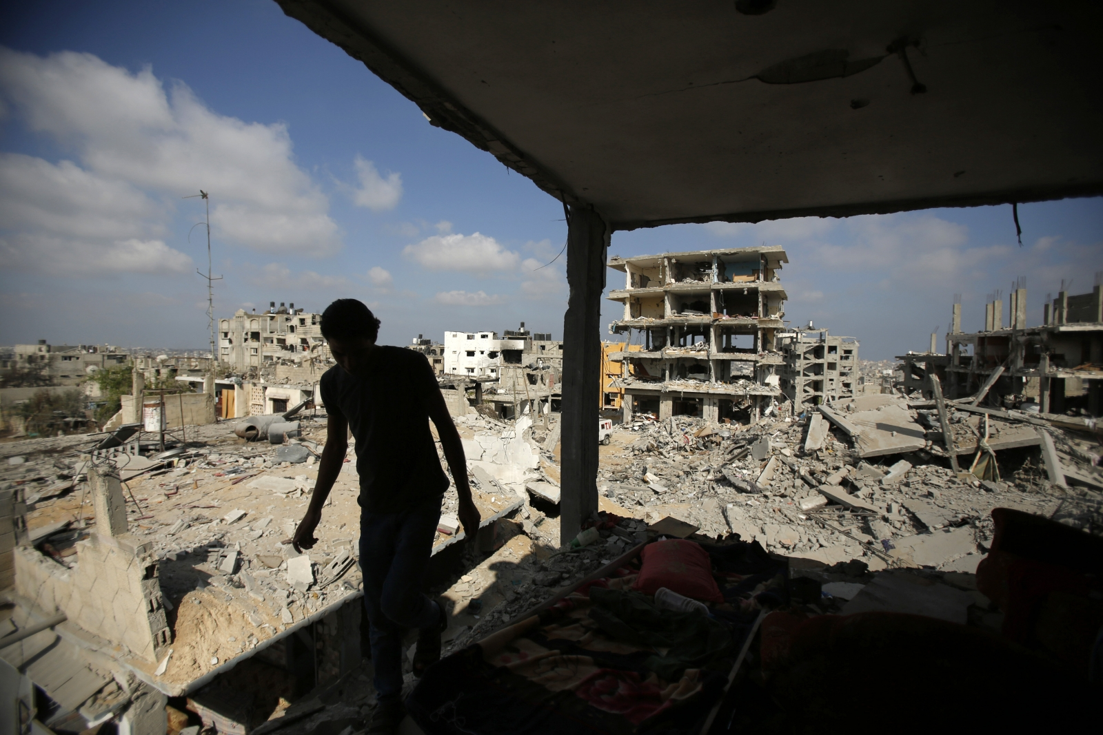 Gaza house destroyed