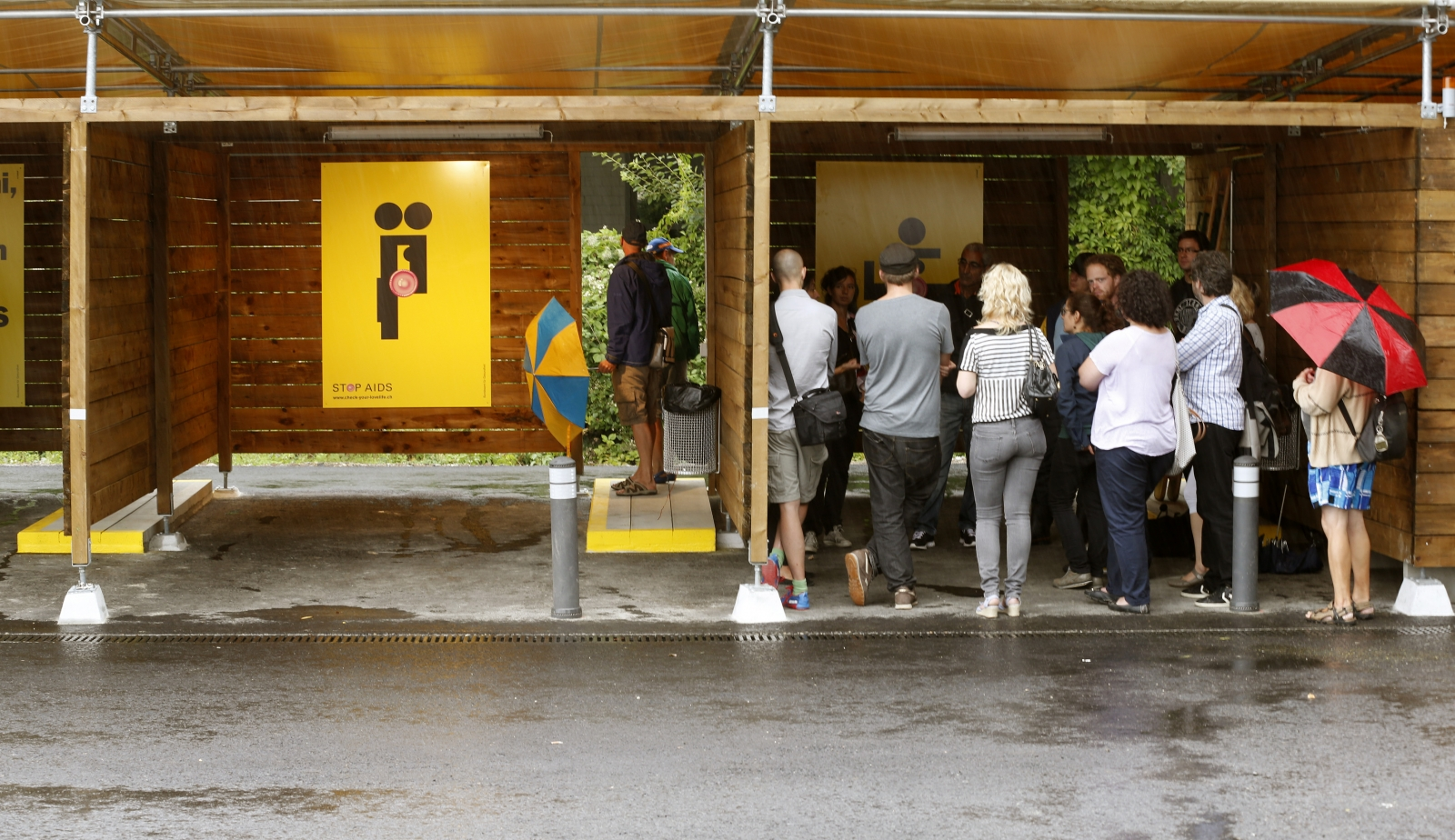 Tourists - not punters, check out a 'sex box' in Zurich, Switzerland, where prostitutes can entertain clients